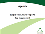Suspicious Activity Reports: Are They Useful - Surviving the Storm Conference
