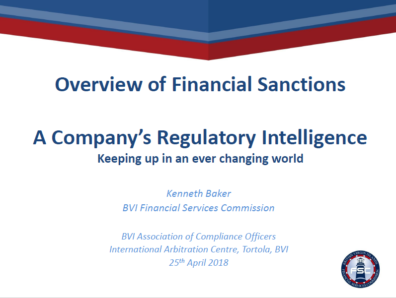 Overview of Financial Sanctions: Keeping Up With the Changing World